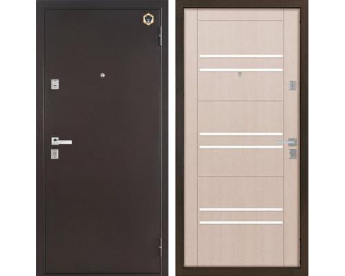 Входная металлическая дверь Бульдорс 13 М-3 (Медный антик / Шамбори Светлый)