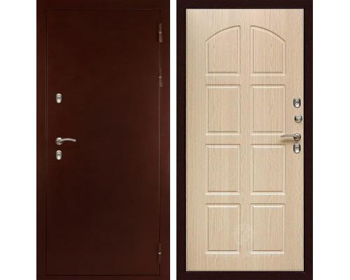 Входная металлическая дверь Дива МД-100 (Антик медный / Дуб беленый)