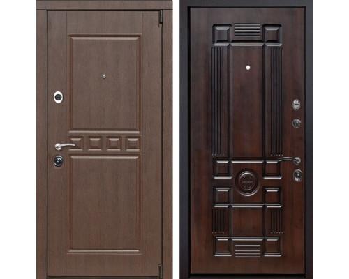 Входная металлическая дверь Сарбона Рим (Венге патина / Темная вишня)
