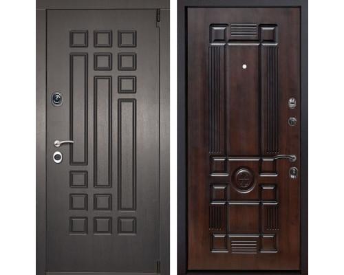 Входная металлическая дверь Милан Рим (Венге патина / Темная вишня)