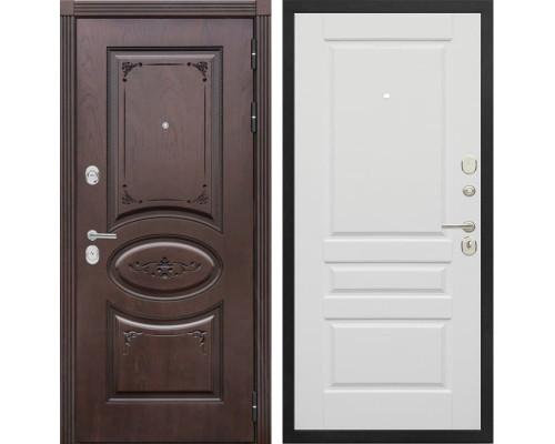 Входная металлическая дверь Сенатор Верона Т-4 (Дуб коньяк / Эмаль белая)