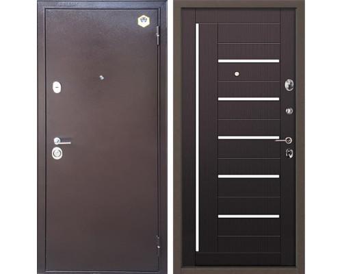 Входная металлическая дверь Бульдорс 14 М-2 (Медный антик / Венге)