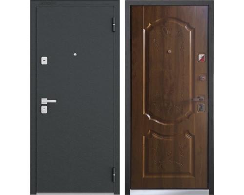 Входная металлическая дверь Бульдорс 44 N-1 (Черный шелк / Дуб Медовый)