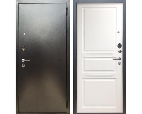 Входная металлическая дверь Аргус Люкс ПРО Джулия-2 (Серебро антик / Белый жемчуг)