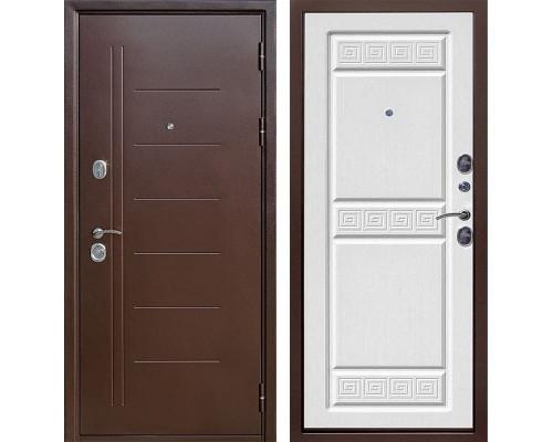 Входная дверь Троя (Антик Медь / Ясень белый)