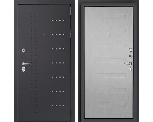 Входная металлическая дверь Дверной Континент Тренто 3К (Серый муар / Дуб белый)