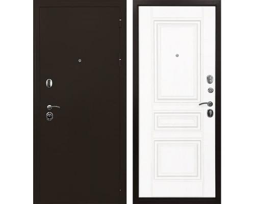 Входная дверь Ратибор Троя 3К (Белый матовый)