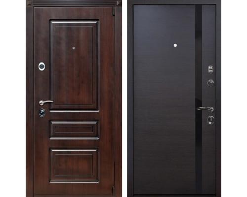 Входная металлическая дверь Неаполь Z6 (Вишня тёмная / Венге)