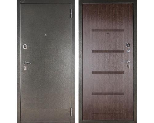 Входная металлическая сейф дверь Аргус ДА-10 Мирель (Серебро антик / Венге)