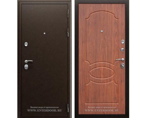 Входная металлическая дверь АСД Грация (Орех темный)