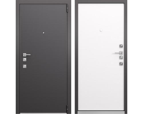 Входная металлическая дверь Mastino Forte (Реалвуд графит MS-100 / Реалвуд молочный MS-100)