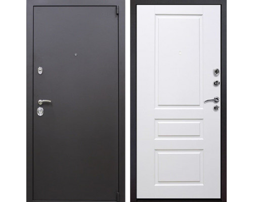 Входная металлическая дверь Квадро Версаль (Искра коричневая / Белый)