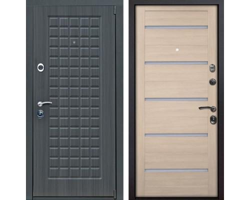 Входная металлическая дверь Мадрид X7 (Дуб серый / Капучино Мелинга)
