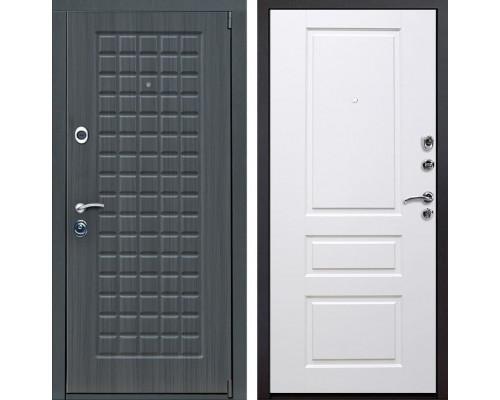 Входная металлическая дверь Мадрид Версаль (Дуб серый / Белый)