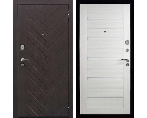 Входная металлическая дверь Вектор Лофт Х7 (Горький шоколад / Лиственница кремовая)