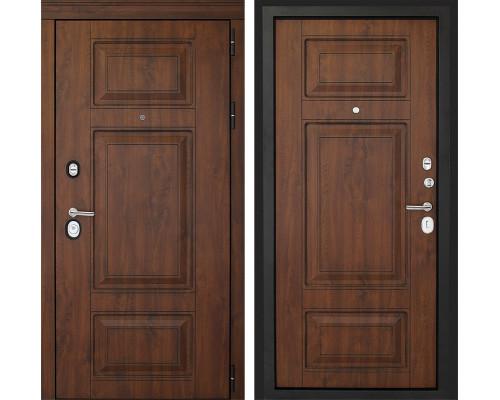 Входная металлическая дверь Дверной Континент Порта 3К (Орех тёмный / Орех тёмный)