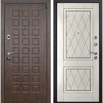 Входная металлическая дверь Верона 72 (Тиковое дерево / Капучино)
