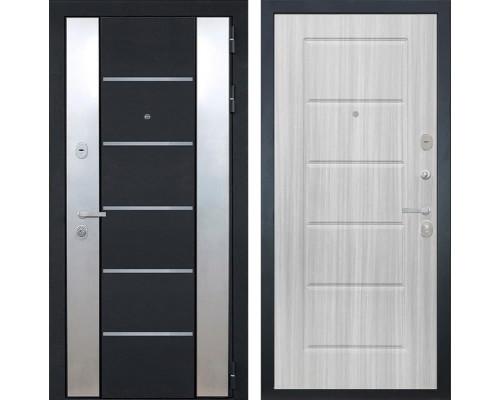 Входная металлическая дверь Интекрон Вельс ФЛ-39 (Черный металлик / Сандал белый)