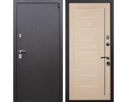 Входная металлическая дверь Квадро X17 (Искра коричневая / Капучино Мелинга)