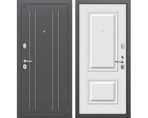 Входная металлическая дверь Groff Т2-232 (Серебро антик / Virgin)
