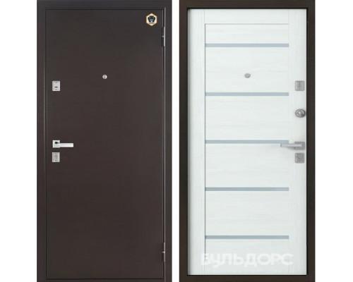 Входная металлическая дверь Бульдорс 13-Р Е-3 (Медный антик / Дуб Беленый)