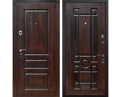 Входная металлическая дверь Неаполь Рим (Вишня тёмная / Вишня тёмная)