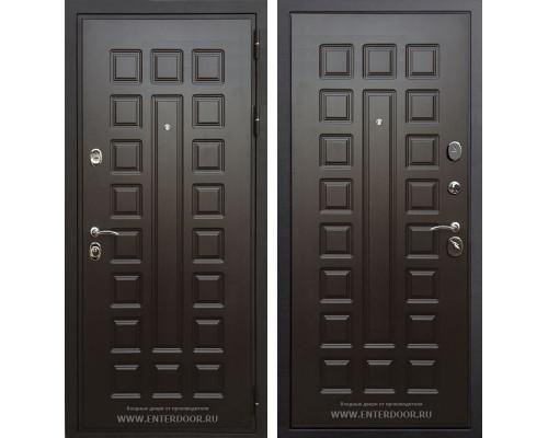 Входная стальная дверь Премиум 3К с цилиндром Cisa (Венге / Венге)