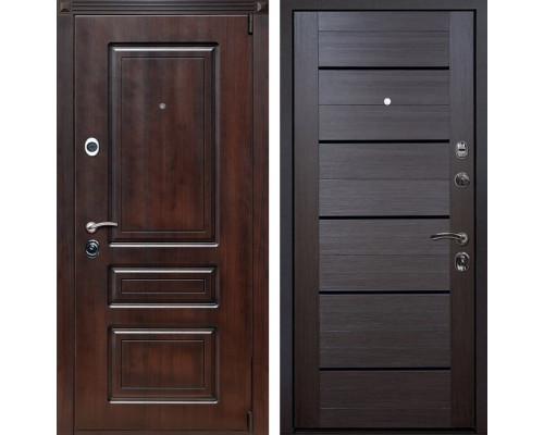 Входная металлическая дверь Неаполь X7 (Вишня тёмная / Венге Мелинга)