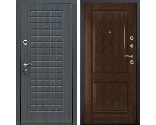 Входная металлическая дверь Мадрид 71 (Дуб серый / Каштан)