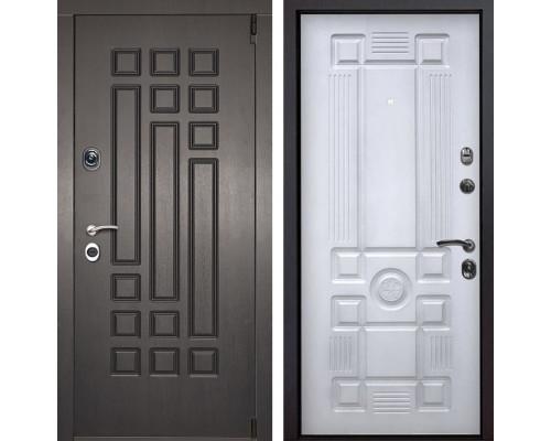 Входная металлическая дверь Милан Рим (Венге патина / Белый с патиной)