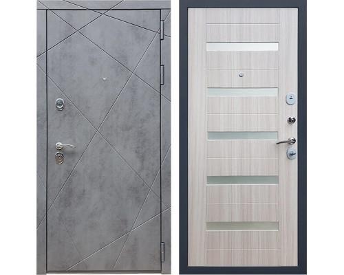 Входная металлическая дверь Армада 13 СБ-14 (Бетон тёмный / Сандал белый)