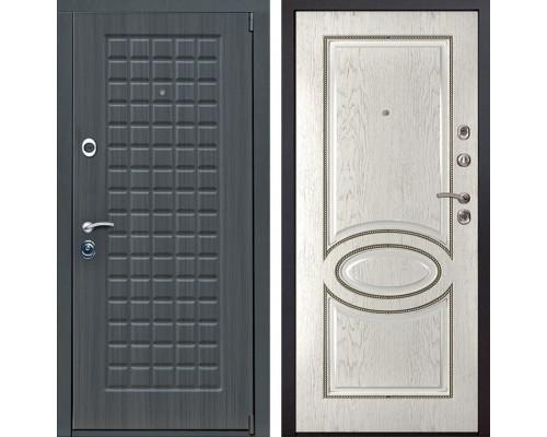 Входная металлическая дверь Мадрид 70 (Дуб серый / Капучино)