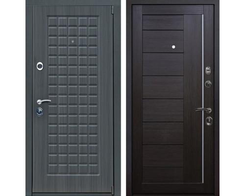 Входная металлическая дверь Мадрид X17 (Дуб серый / Венге Мелинга)