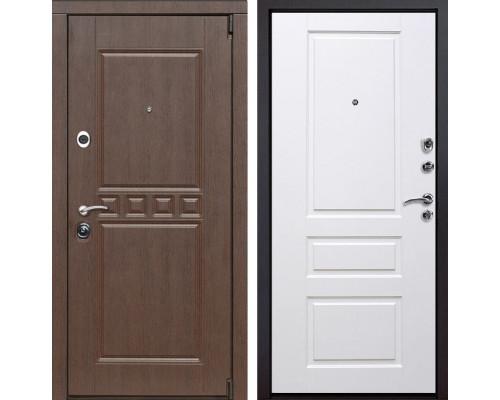 Входная металлическая дверь Сарбона Версаль (Орех патина / Белый)