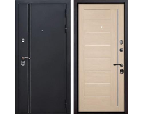 Входная металлическая дверь Квадро Лайн X17 (Искра черная / Капучино Мелинга)