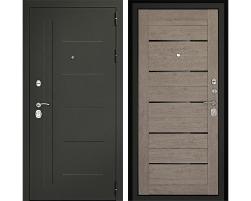 Входная металлическая дверь Дверной Континент Сити-С 3К (Серый графит / Лиственница серая)