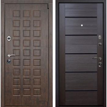 Входная металлическая дверь Верона X7 (Тиковое дерево / Венге Мелинга)