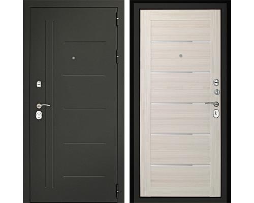 Входная металлическая дверь Дверной Континент Сити-С 3К (Серый графит / Дуб белёный)