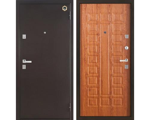 Входная металлическая дверь Бульдорс 13 (Медный антик / Дуб Золотой)