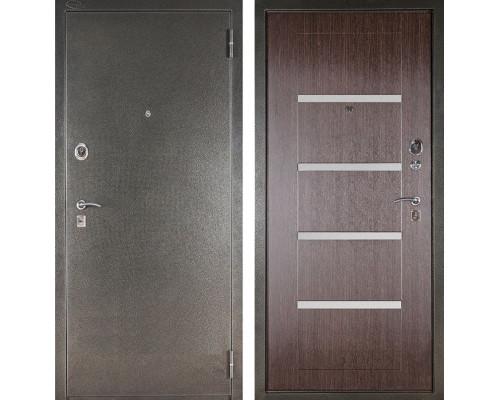 Входная металлическая сейф дверь Аргус ДА-10 Николь (Серебро антик / Венге)