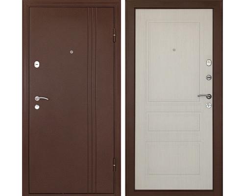 Входная металлическая дверь Континент Турин 3К (Медный антик / Беленый дуб)