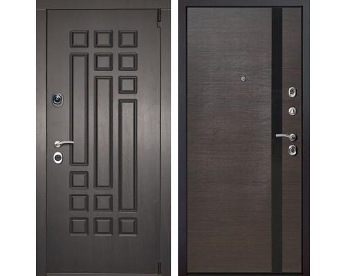 Входная металлическая дверь Милан Z6 (Венге патина / Венге)