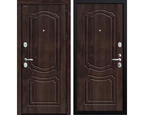 Дверь входная металлическая Groff P3-301 П-28 (Темная вишня / Темная вишня)