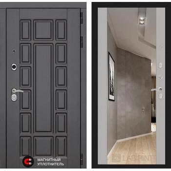 Входная дверь Лабиринт Нью-Йорк с Зеркалом Макси (Венге / Софт Грей)