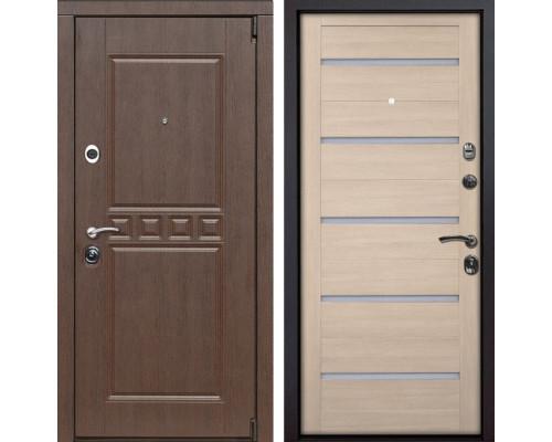 Входная металлическая дверь Сарбона X7 (Орех патина / Капучино Мелинга)