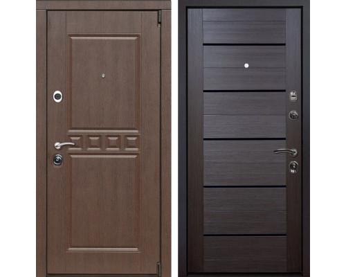 Входная металлическая дверь Сарбона X7 (Орех патина / Венге Мелинга)