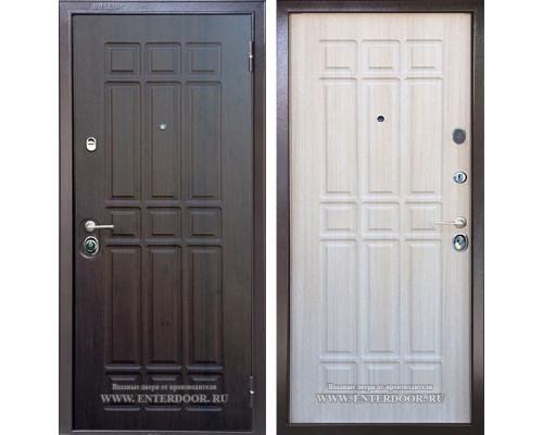 Входная металлическая дверь Бульдорс 15 В-17 (Венге / Шамбори Светлый)