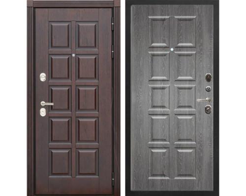Входная металлическая дверь Сенатор Лондон Т-13 (Дуб коньяк / Графит)