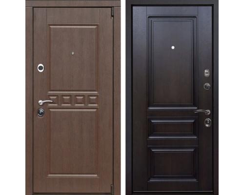 Входная металлическая дверь Сарбона Неаполь (Венге патина / Темная вишня)