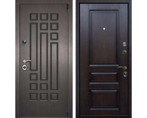 Входная металлическая дверь Милан Неаполь (Венге патина / Темная вишня)